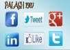 give you 15 tweets, 15 fb web likes, 15 linkedIn share, 15 FB Share, 15 google+1