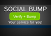social bump your service daily for a week(7 days)