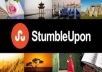 Provide you 100+ Stumbleupon Followers,100% real & robotick software use, only