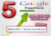 place a lifetime homepage PR5 dofollow backlink