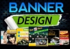 design 2 nice banner and header for your website