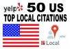 submit your business details to 50 top US Citations sites to boost your  Google+ page ranking