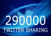 tweet your message to my more than 290,000 active Twitter Followers@@@!!!