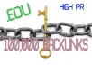 3000 EDU Backlinks + EDU Blogs, 16000 Wiki Links, 80000 PR 0-9 Backlinks
