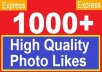 give 1000 High quality facebook likes, facebook Fanpage/PHOTO/Status/Video likes!!@@