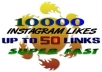 give 10000 Instagram Likes split up to 50 photos [EXCLUSIVE service]...!!!!