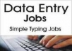 I want to do data entry jobs of any type