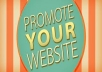 promote your website url on my active 6,500,000 fans page!!@@