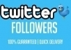 submit you 850++ Twitter Followers 100% real and active on your account