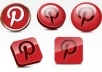 get you 650++ Pinterest Followers 100% real  on your website