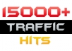 send you 15000 Worldwide traffic hits to your website/blog/fanpage