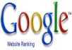 Show You How To Get Your Website To The Top Ranking Of Google Page Ranking In Less Than 1 Hour