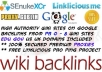 create 150 to 200 wiki BACKLINKS using SeNuKe xCr + Premium Proxies + Linklicious Ping + Rss !!@@
