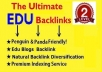will manually Create 20 Most Powerful CONTEXTual EDU Backlinks Panda and Penguin Friendly + Ping all Urls for Indexing !!@@