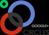 add 350 people to your google circles page with profile picture