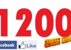 give you 1200 Facebook Likes to your Facebook fanpag, photo, website in 24 hours