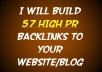 create 57 HIGH PR Backlinks to your website or blog