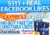 add 5,111+ Real looking Facebook likes to your fanpage without admin access