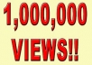 give you guaranteed 1 million 1000,000+ ( 1000k) youtube views to your video