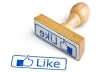 Give 1000 Facebook Page likes for $5