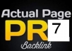 I will do 20 PR3+ Actual Pagerank 100% Do-follow 100% Unique 100% Manual Blog Comments Backlinks and 1 PR7 Link Bonus
