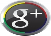 give you 110 real google + in your blog/site