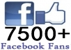 give you  7500++ Facebook Likes 100% real & active on your Fanpage