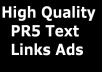 Get High Quality PR5 Backlinks