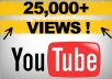 give you 22000+ youtube views, Buy 2 gigs and get 1 gig for FREE, 40 Custom Comments, 25+ likes, 50+ subscribers, 15+ favorites, all in one