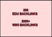 I will create The Best EDU Pyramid with 200 Edu Backlinks and 2000+ High Page Rank Wiki links Panda and Penguin Safe