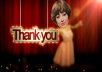 personalize you in a ballet dance to express your gratitude to other people in your video