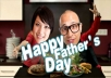 personalize you two in the Father Day greeting video