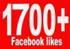 give 1700 High quality facebook likes, facebook Fanpage/PHOTO