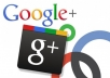 give 100 Google plus from 100 real profile for your webpage or blog or Youtube video