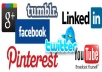 give 50 Retweet 20 Google plus 40 Facebook Likes 25 Pinterest Repin and 40 StumbleUpon likes for your webpage