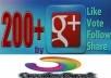 give you Manually 100+100 Google+1 vote on you account