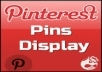 get you 699+1 Pinterest Followers 100% real  on your website