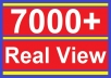 give you 7000+ REAL youtube views to your youtube video, all views in 72 hours