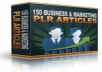 provide SEO Optimized 150 Business & Marketing PLR Articles