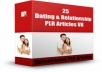provide FRESH 25 Dating And Relationship PLR Articles