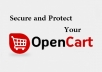 secure or Recover Hacked opencart website
