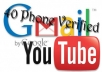 will get you 30 PVA gmail (YouTube) USA phone verified accounts