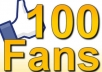 will give you 70  upto 100 Real looking facebook likes or fans to your facebook fanpage within24 hours