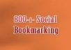 create 800 social bookmark SEO backlinks + ping in 24 hours ...!!!!!