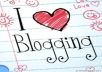 send you more than 800 articles about Blogging