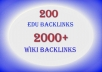 create The Best EDU Pyramid with 200 Edu and 2000+ High Page Rank Wiki backlinks