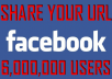 Share Your URL With 4,000,000 FB/Twitter Users [4 Million Users!]