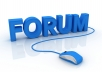 post in your forum or blog with 2 accounts for 10 days
