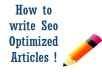 write a high quality, 500 plus word article, that is seo optimized