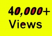 give your YouTube Video Over 40000 Unique Real Views